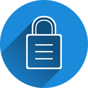 padlock on a blue background members